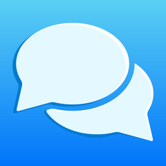 Blue chat icon illustration