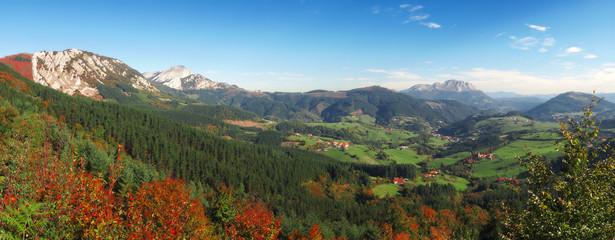 Panorama of Aramaio valley