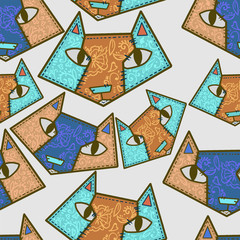 pattern, fox, animal