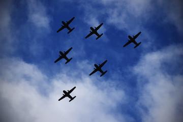 Escuadrilla de aviones
