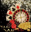 Merry Christmas Casino wallpaper, vector