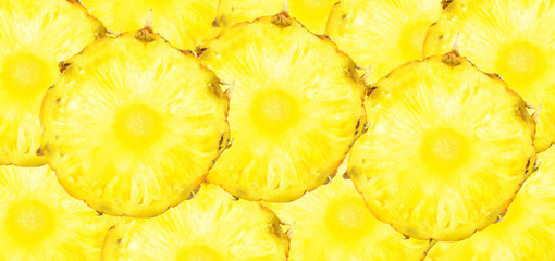 background with slices of pineapple