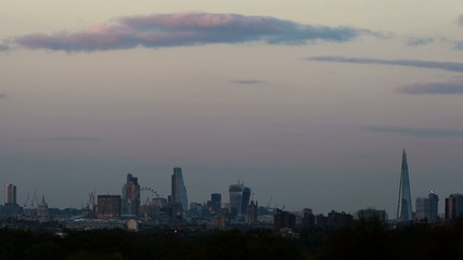 HD  time lapse of london skyline