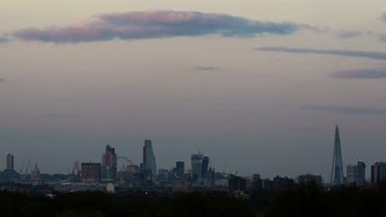 HD  time lapse of london skyline