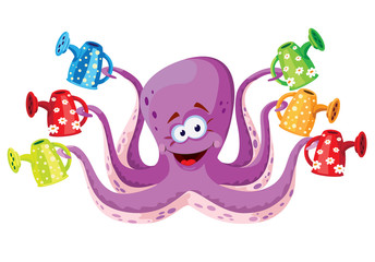 octopus with watering set