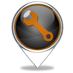 tools pointer icon on white background