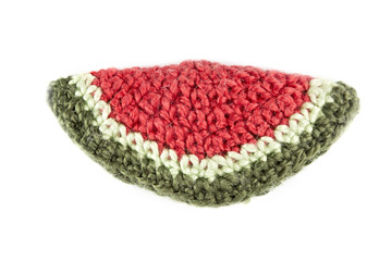 knitted slice of a water-melon