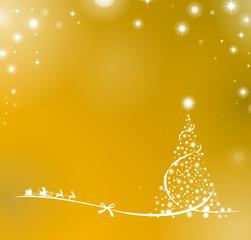 Weihnachtsbaum Rentiere Sterne gold