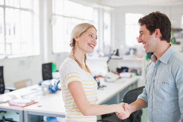 Business people  shaking hand in office