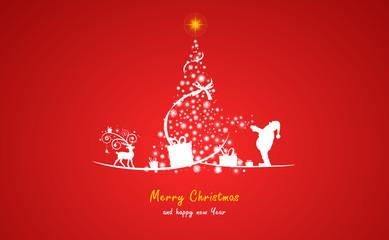 Weihnachtsbaum Sterne rot