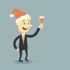 businessman holding wine