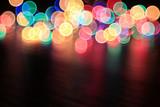 colorful bokeh Christmas garland Christmas lights