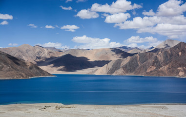 Pangong Tso - The highest salt water lake in the world