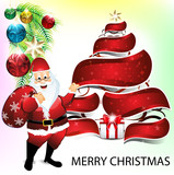 merry christmas background wit santa claus