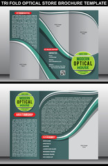 Tri Fold Optical Store Brochure Template