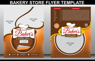 Bakery Shop Flyer Template & Magazine Cover