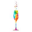 Champagne multicolore - 74084381
