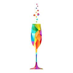 Champagne multicolore