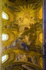 Inside the cathedral of Acireale ( Maria Santissima Annunziata)