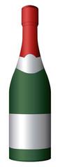 Sekt- Champagnerflasche als Vektor