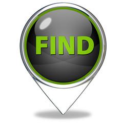 find pointer icon on white background