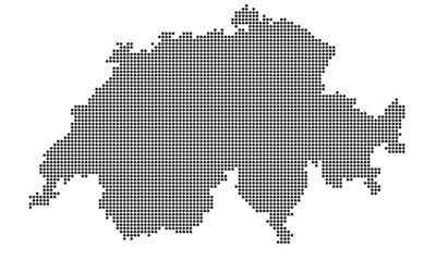 Schweiz gepunktet (schwarz)