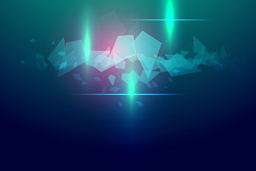 blue and pink abstract technology vector background
