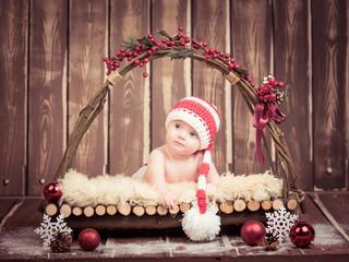 Bambino Natale Neonato Simpatico