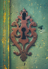 Vintage Rustic Keyhole Decoration