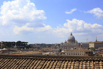 Rome cityscape with St. Peter's Basilica