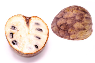 Fresh Green and Brown Ripe Cherimoya