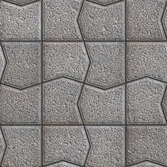 Gray Pavement with a Pattern of Cracked Squares.