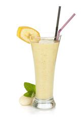 Banana milk smoothie