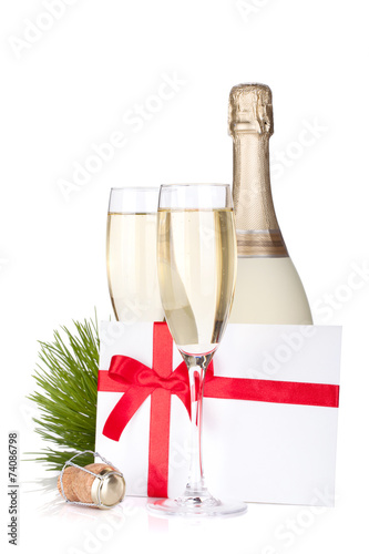 Papiers peints Bar Champagne and gift letter