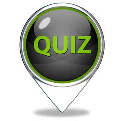 Quiz pointer icon on white background