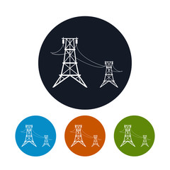 Icon high voltage power lines , vector illustration