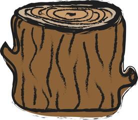 doodle tree stump