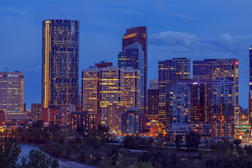 Skyline Calgary at night