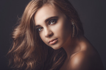 Portrait of beautiful young girl. sexy image
