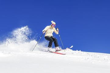 Riesengaudi beim Skifahren