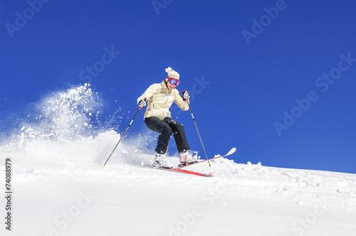 canvas print picture Riesengaudi beim Skifahren