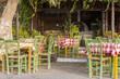 Obrazy na płótnie, fototapety, zdjęcia, fotoobrazy drukowane : Greek Pizzeria at the beach promenade in Paleochora