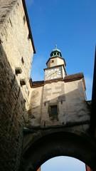 Historischer turm und Stadtmauer rothenburg