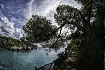 foot path high on sea cliffs Menorca