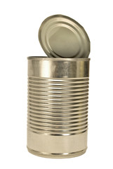 Silver Colored Open Metal Can