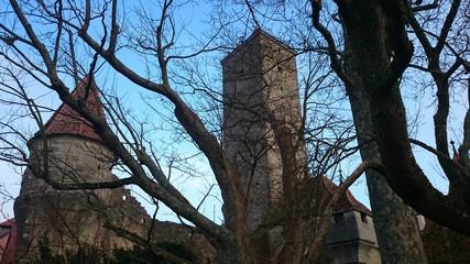 Burgturm und Stadtmauer rothenburg