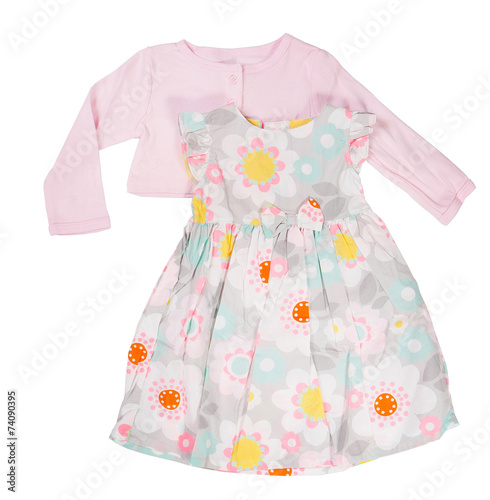 Children's wear. Baby dress on a white background. Isolated - 74090395