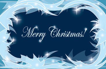 light and dark background with frosty frame - vector