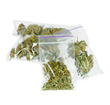 Therapeutic and medicinal cannabis plastic bags poster