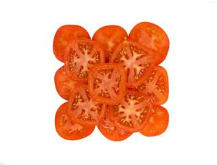 Beautiful juicy slices of tomato